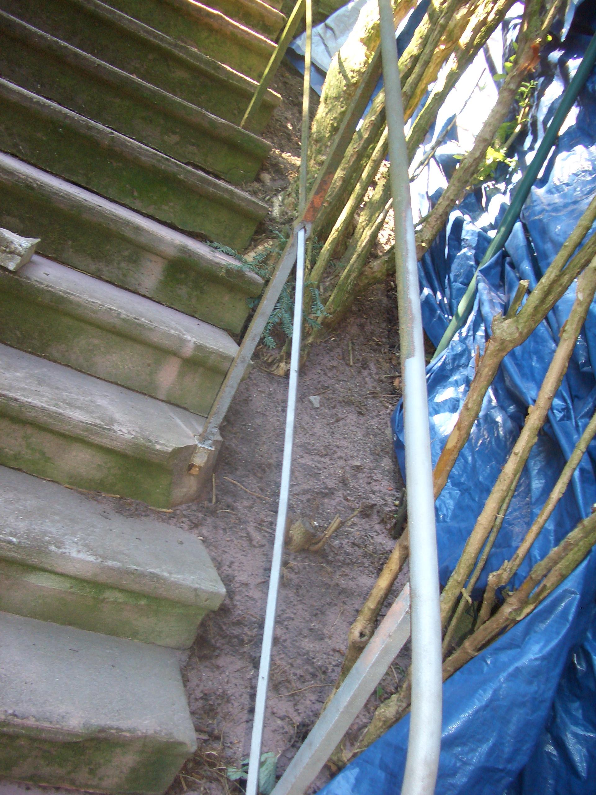 Treppengeländer Reinigung - Vorher Nachher