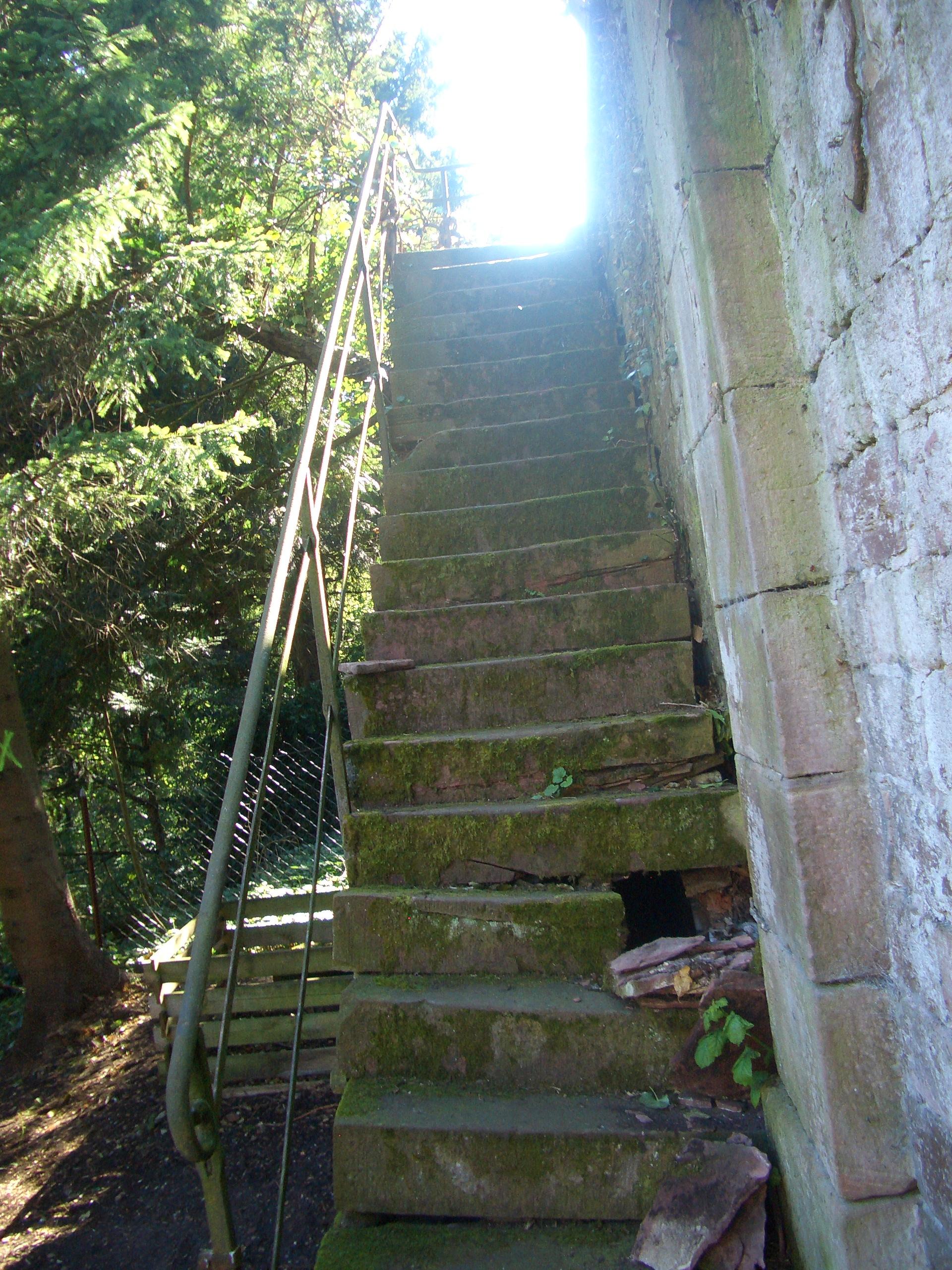 Treppengeländer Reinigung an Baudenkmal