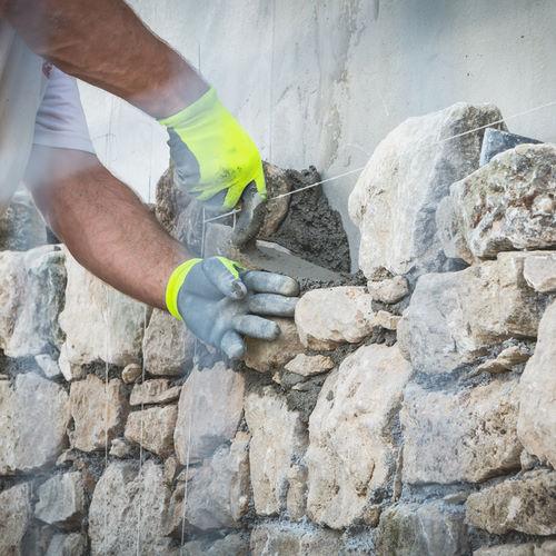 Naturstein Mauer, Verfugen, Restaurieren, Reinigen
